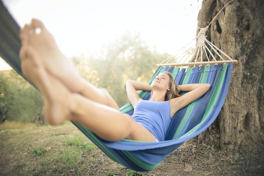 simple pleasure in a hammock