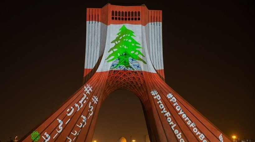 Azadi Tower for 2020 Beirut Explosions. Photo by By Fars News Agency, CC BY 4.0, https://commons.wikimedia.org/w/index.php?curid=92920435