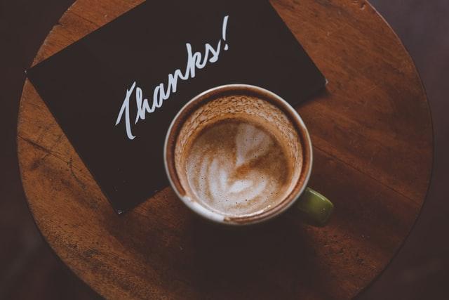 Coffee and Thanks!  Photo by Hanny Naibaho.