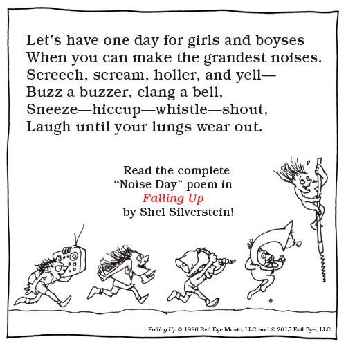 Noise Day by Shel Silverstein