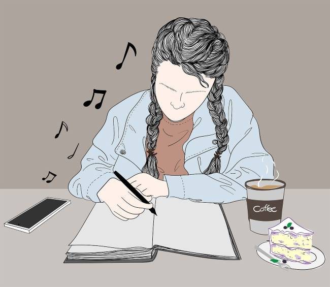girl-studying-while-listening-to-music