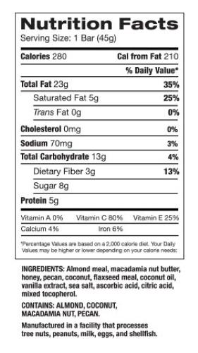 L-Bar Nut Bar Info