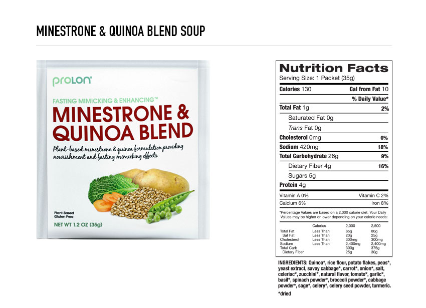 Prolon Minstrone Quinoa Soup