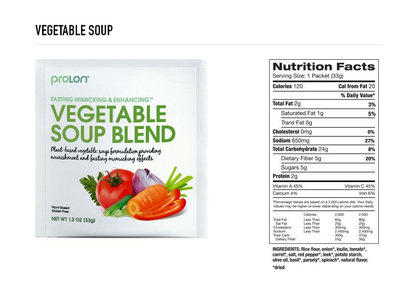 Prolon Vegetable Soup
