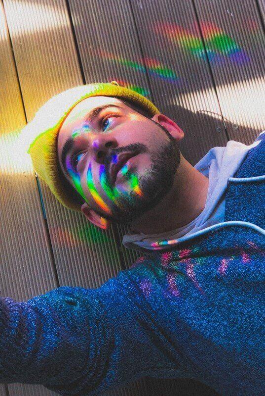 Creative Man Looking Toward Light