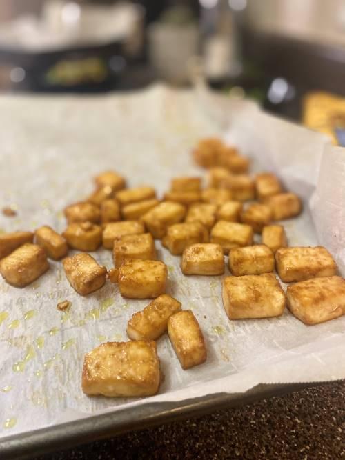 Hana's Crispy Baked Tofu